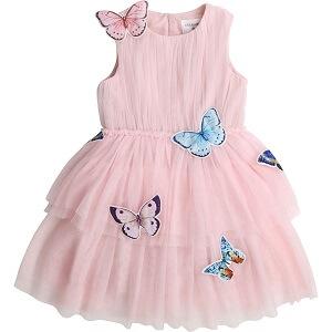 CHARABIA Robe en tulle avec papillons